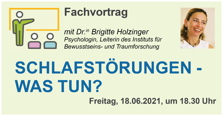 """Fachvortrag """"Schlafstörungen - Was tun?"""" mit Dr. Brigitte Holzinger"""